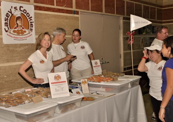Caseys Cookies launches sales at the Angels after Dark Charity Fund Raising Event